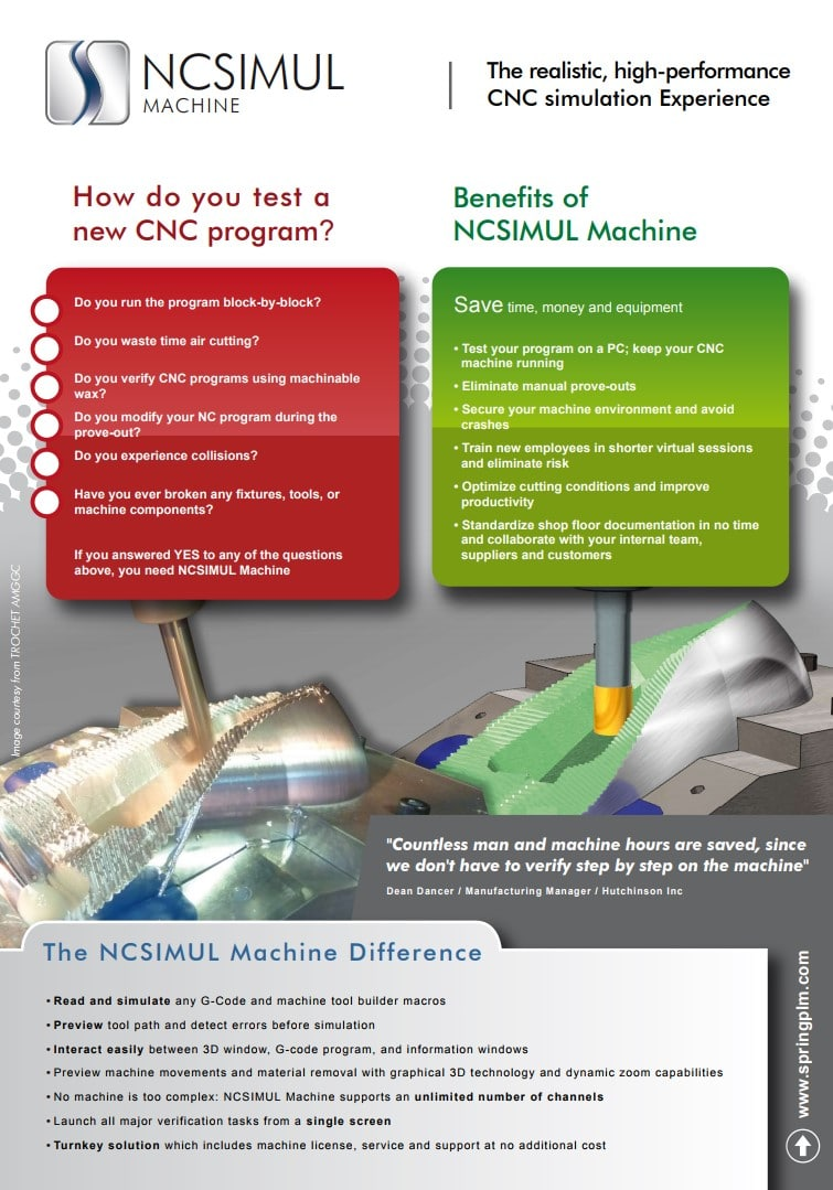 NC Simul I NC Code verification I Manufacturing optimization